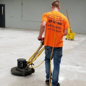 Floor Care - Floor Buffing
