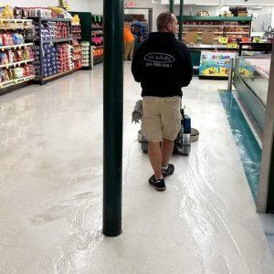 Floor Care - Floor Burning